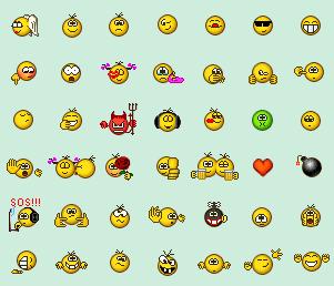 Вашему вниманию предлагается 12 наборов смайлов для icq 6 большинство эмоций было взято из предыдущих паков для icq
